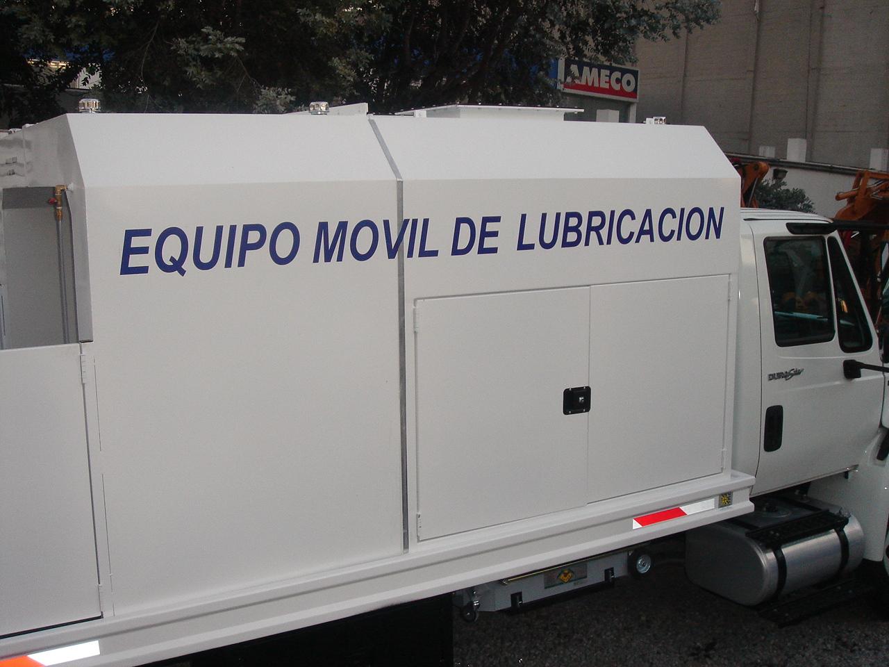 equipo móvil lubricación.Serretecno